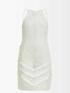 Saint Laurent - Fil Coupé Pussy Bow Silk Blend Blouse - Womens - Black Gold