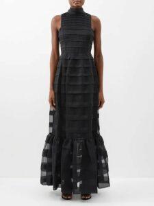 Bottega Veneta - Pleated Satin Cami Top - Womens - Black