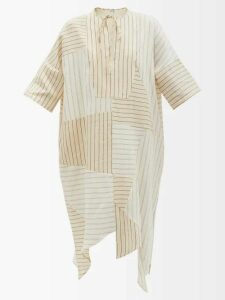 Alexander Mcqueen - Asymmetric Sarabande Lace Mini Dress - Womens - Black Multi