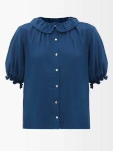 Prada - Roll-neck Cashmere-blend Sweater - Womens - Green Multi
