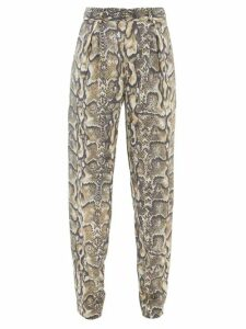 Frances De Lourdes - Sophie Slubbed-jersey Scoop-neck T-shirt - Womens - Black