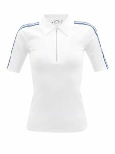 Calvin Klein 205w39nyc - Distressed-trim Cotton Jersey Roll-neck Sweatshirt - Womens - Brown