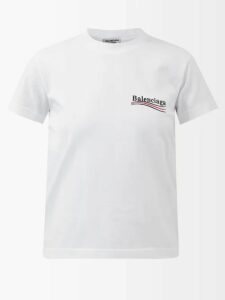 Calvin Klein 205w39nyc - Distressed Trim Cotton Jersey Roll Neck Sweatshirt - Womens - Brown