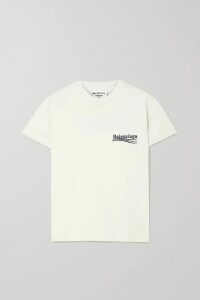 Sacai - Ruffled Satin And Chiffon Blouse - Black