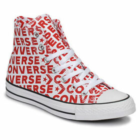 Converse  CHUCK TAYLOR ALL STAR WORDMARK HI  women's Shoes (High-top Trainers) in Red
