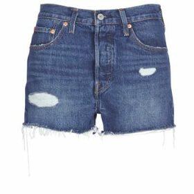 Levis  502 HIGH RISE SHORT  women's Shorts in Blue
