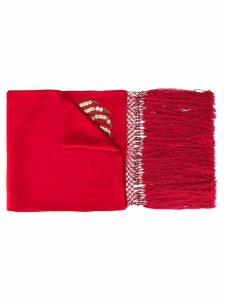 Giorgio Armani Pre-Owned embroidered scarf