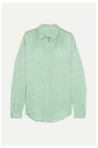 Off-White - Satin-jacquard Blouse - Green