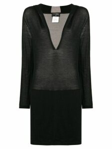 Chanel Pre-Owned deep v-neck sweater - Black
