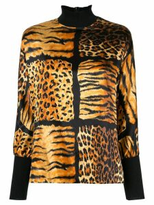Christian Dior pre-owned leopard print top - Brown