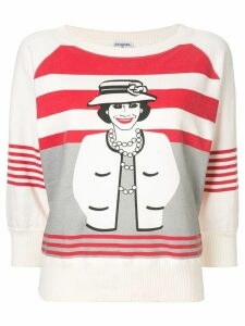 Chanel Pre-Owned Mademoiselle print sweatshirt - White