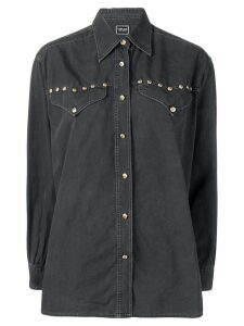 Versace Pre-Owned long-sleeve buttoned shirt - Black
