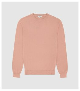 Reiss Maurice - Cotton Crew Neck Jumper in Pink, Mens, Size XXL