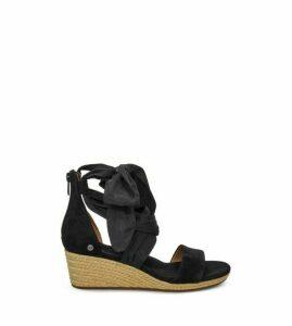 UGG Trina Wedge Womens Sandals Black 8
