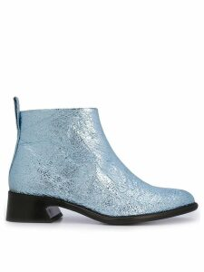 Sies Marjan crinkle ankle boots - Blue