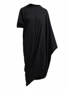 Vetements - Asymmetric Midi T Shirt Dress - Womens - Black