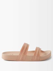 Prada - Cut-out Cotton-poplin Shirt - Womens - Blue
