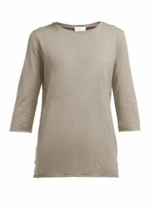 Raey - Half-sleeve Cotton-jersey T-shirt - Womens - Grey