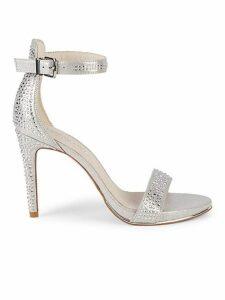 Brooke Embellished Metallic Sandals