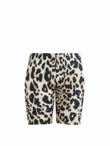 Paco Rabanne - Leopard Print Stretch Jersey Cycling Shorts - Womens - Leopard