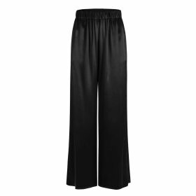 Manley - Sadie Leather Collar Print Silk Top Purple