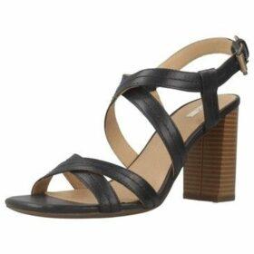 Geox  D AUDALIES HIGH SAND  women's Sandals in Blue