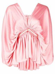 Maison Rabih Kayrouz gathered front blouse - PINK