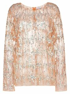 Ashish sequin embellished top - Neutrals