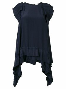 P.A.R.O.S.H. pleat detail blouse - Blue