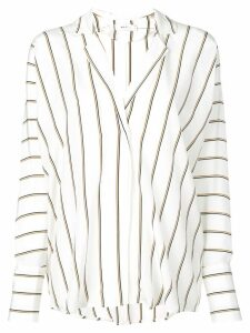 A.L.C. striped oversized blouse - White