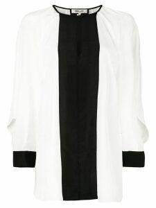 DVF Diane von Furstenberg Aime cut out top - White