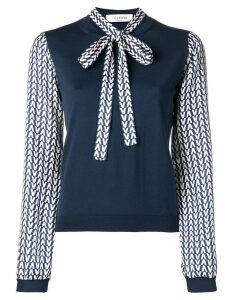 Valentino Optical V blouse - Blue