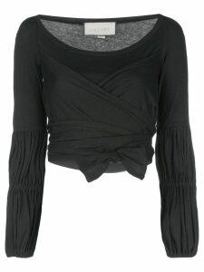 Alexis Niksa long sleeve crop top - Black