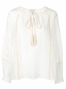 Zeus+Dione braided tie blouse - White