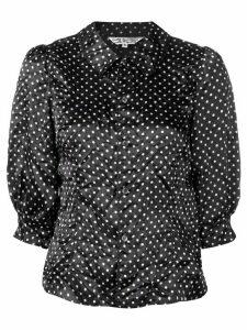 Comme Des Garçons Comme Des Garçons polka dot print shirt - Black