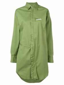 Dsquared2 longline asymmetric shirt - Green