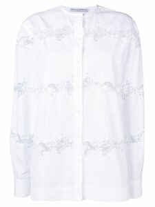 Ermanno Scervino lace insert shirt - White
