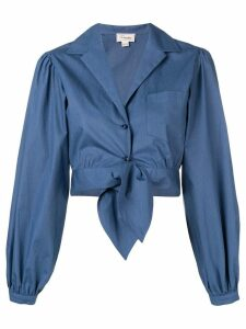 Temperley London Isla cropped shirt - Blue