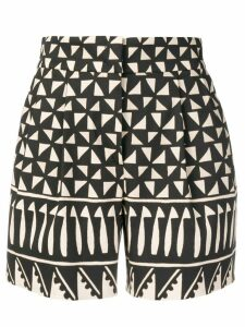 Alberta Ferretti multi-pattern shorts - Black