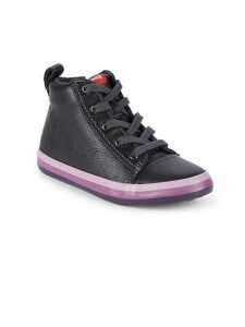Little Boy's Padded Collar Leather High-Top Sneakers