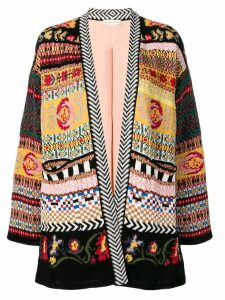 Etro multi-pattern cardigan - Black