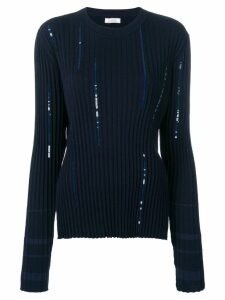 Nina Ricci sequinned jumper - Blue