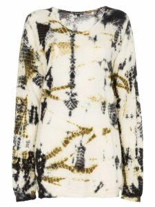 Ann Demeulemeester printed slouchy silk cashmere blend jumper - Black