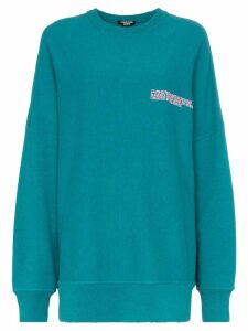 Calvin Klein 205W39nyc logo embroidered oversized cotton jumper -
