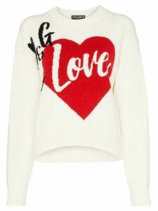 Dolce & Gabbana D & G Is Love cashmere blend intarsia knit sweater -