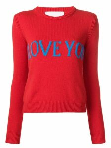 Alberta Ferretti I Love You sweater - Red