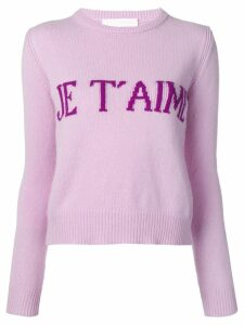 Alberta Ferretti Je T'aime sweater - Purple