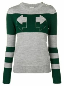 Temperley London Aggie intarsia sweater - Grey