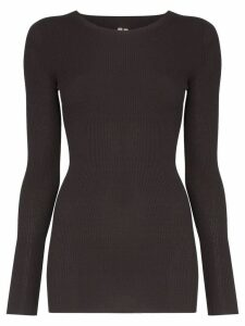 Rick Owens long sleeved ribbed sweater - Grey