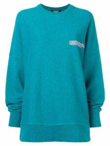 Calvin Klein 205W39nyc oversized sweatshirt - Blue